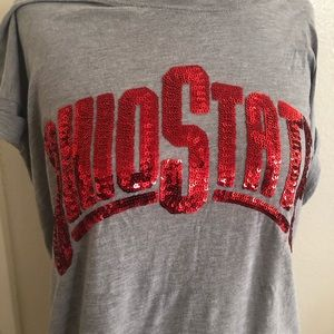 Ohio State sequin tee